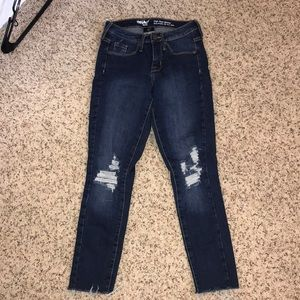 Ankle 7/8 dark wash high rise jeans